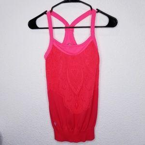 Athleta Coral tank top elastic on waist size S